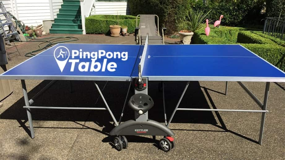 Best Ping Pong Table Kettler Top Star XL Weatherproof