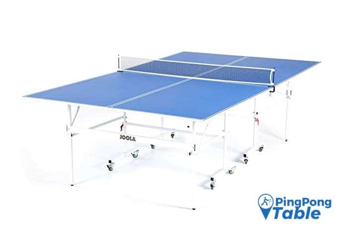 JOOLA Quadri - Indoor 15mm Ping Pong Table with Quick Clamp Ping Pong Net Set