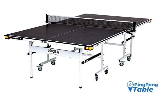 JOOLA Rally TL - Professional MDF Indoor Ping Pong Table w/ Quick Clamp Ping Pong Net & Post Set